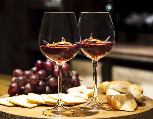 Shark wine glass in Bar