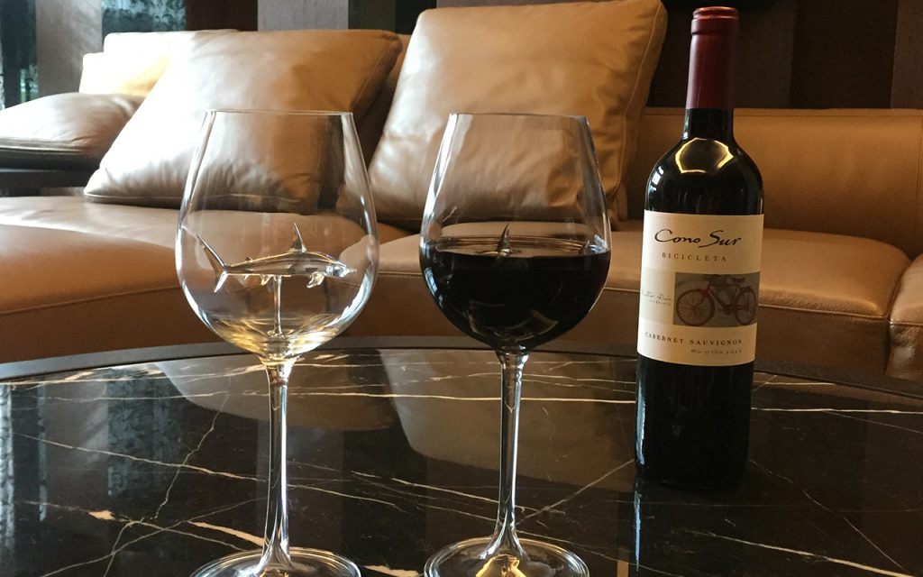 shark wine glass is realized