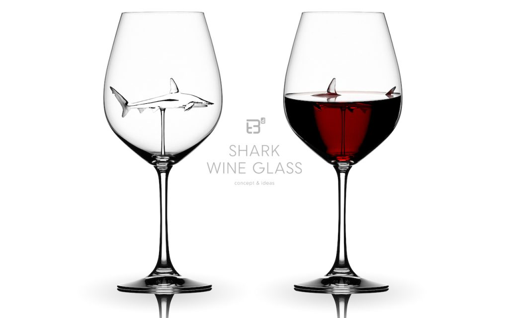 shark wine glass concept & idea